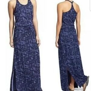 Athleta Cressida Maxi Dress M Purple Blue